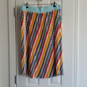 Lularoe Jill skirt. XL. NWOT. Multi Colored Stripe
